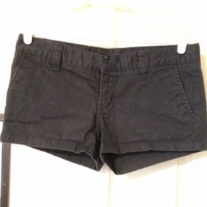 Solid Black Hurley Shorts Soft Cotton Twill